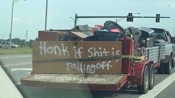 Honk if shit is falling off