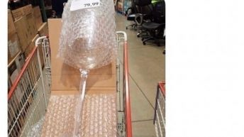 4 ft. tall wine glass at Costco