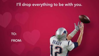 I'll drop everything to be with you Tom Brady valentine meme