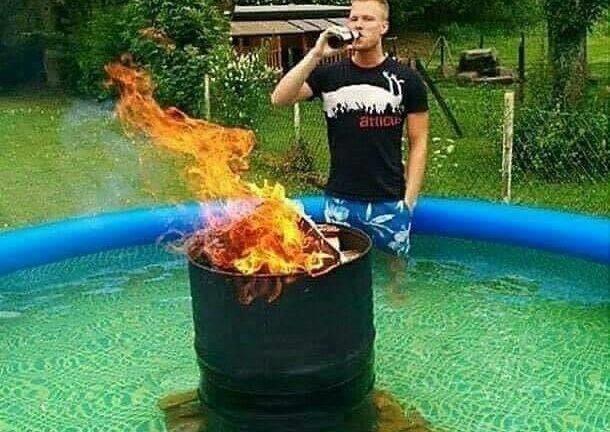 Redneck hot tub meme
