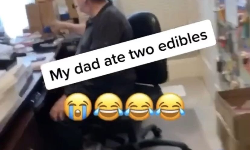 Dad accidentally eats too many edibles
