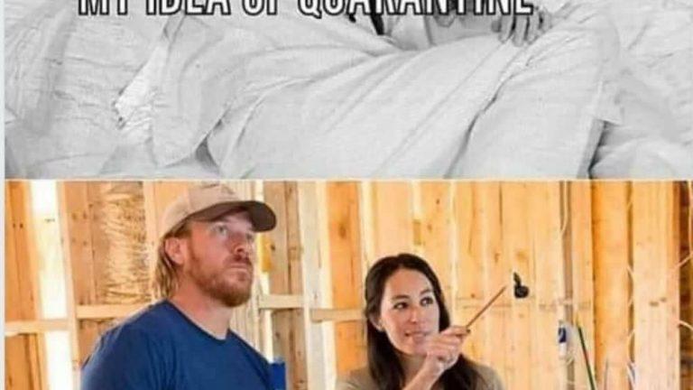 My idea of quarantine vs my wife's idea of quarantine meme