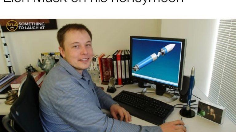 Elon musk on his honeymoon meme