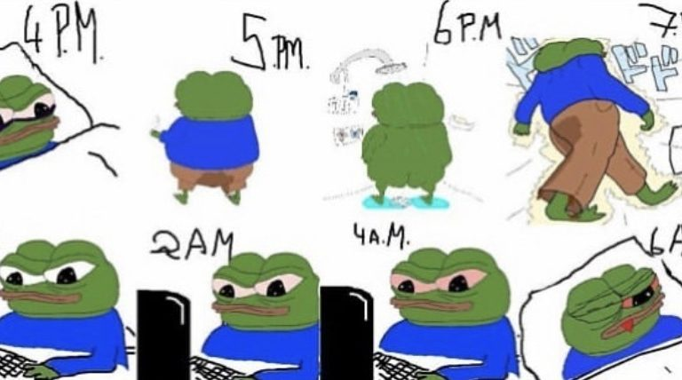 The cycle of lyfe frens Pepe the frog meme