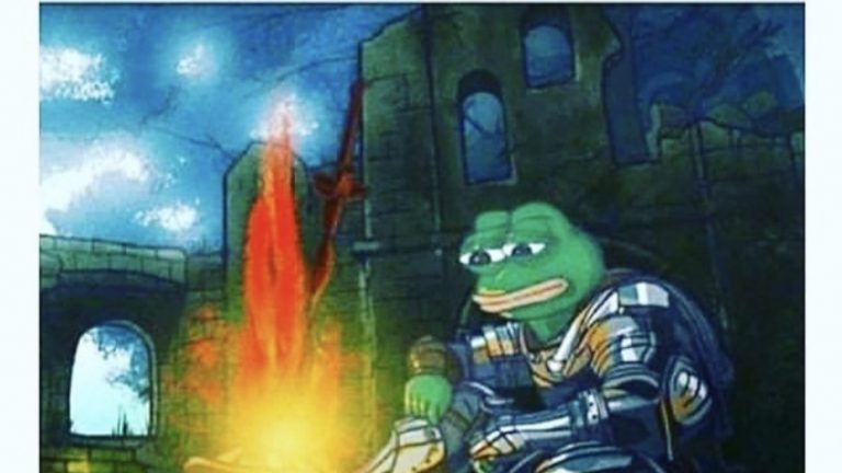 When you're watching the final episode of a show and hear the intro song for one last time pepe the frog meme
