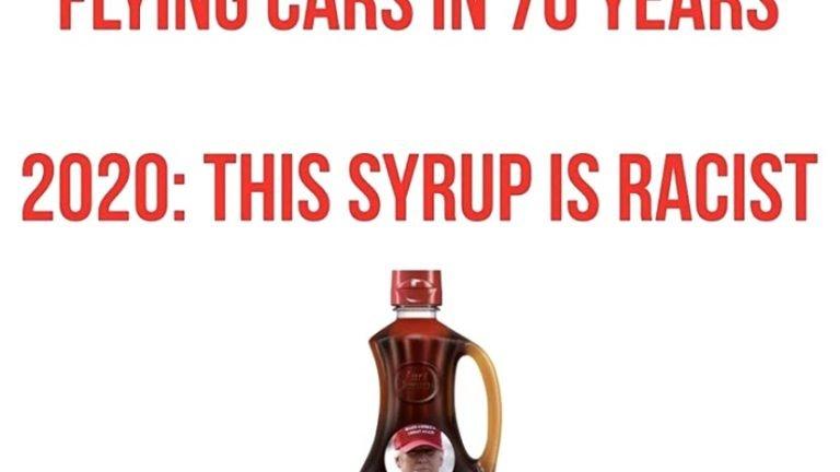 1950 vs 2020 Aunt Jemima syrup meme