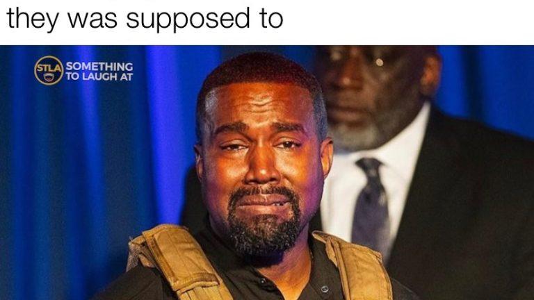 Kanye West crying meme