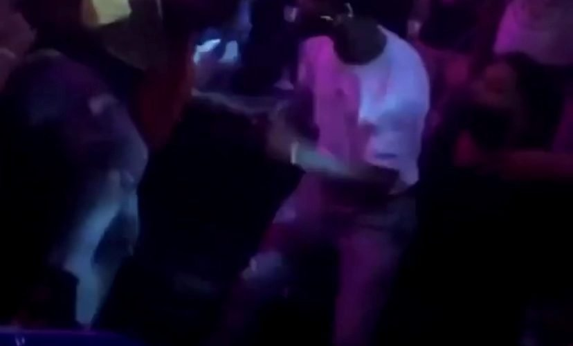 Drunk fight in a club