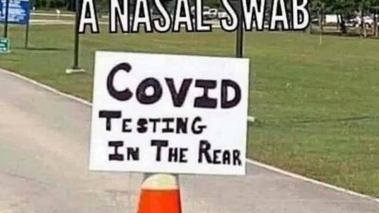 Oh no i thought it was a nasal swab covid testing in back meme