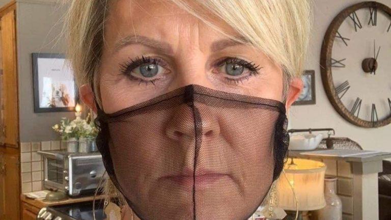 Karen wears see through mask