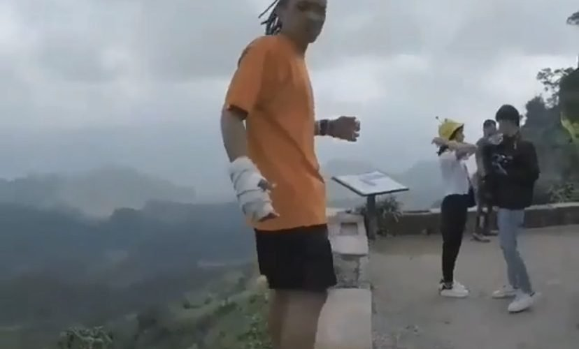 flipping on a ledge fail