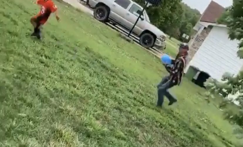 Joe Exotic chases kid