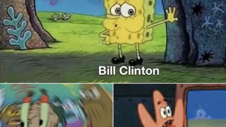 The moment the Maxwell/Epstein court documents became unsealed to the public Spongebob meme