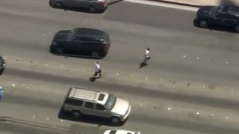 Men running from cops hitchhike a ride
