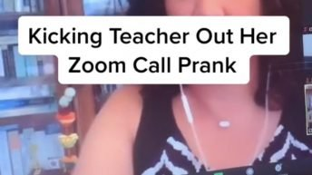 Kicking teacher out her Zoom call prank