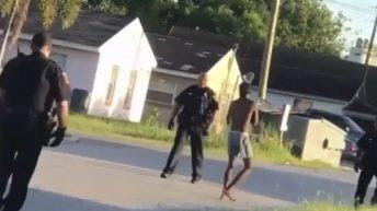 Man breaks away from cops