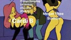 Cardi B WAP IT guy Simpsons meme
