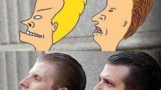 Donald Trump sons Bevis and Butt-head meme