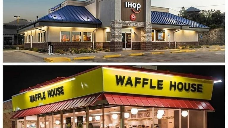 IHOP and Waffle House Verzuz battle meme