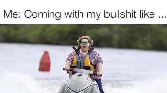 Me coming with my bullshit like meme