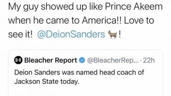Deion Sanders the head coach of Jackson State University