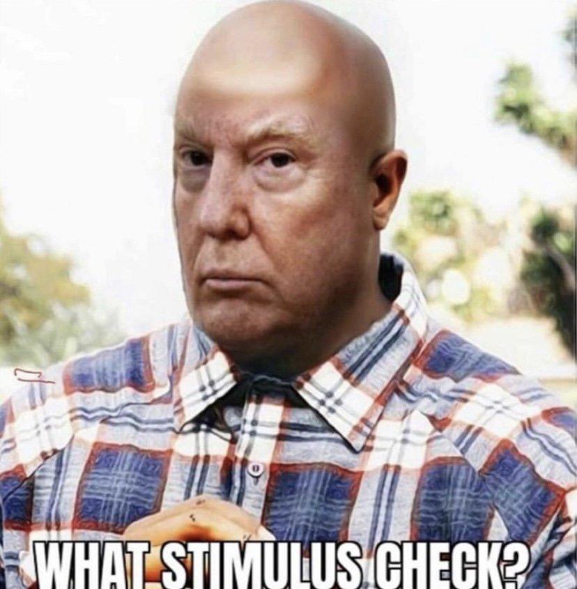What stimulus check Donald Trump Deebo meme