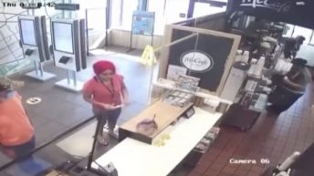 Angry McDonald's customer get into it with manager