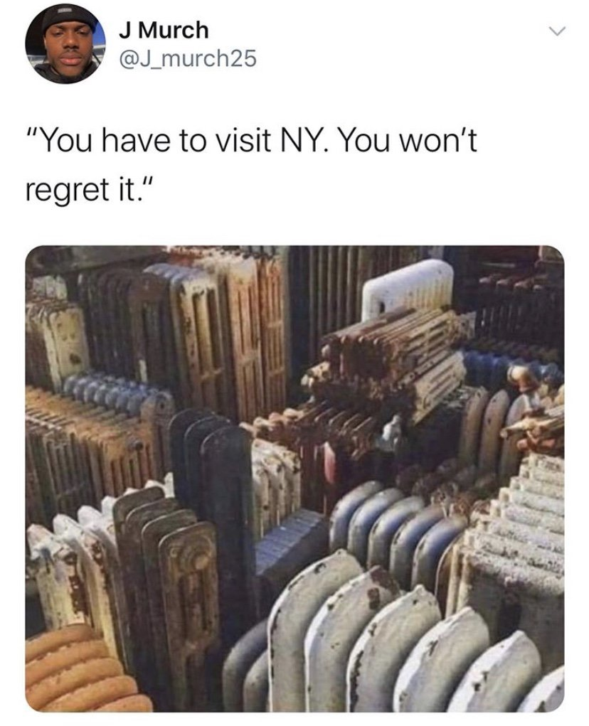 You have to visit NY. You won't regret it meme