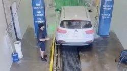 Drive thru car wash fail caught on cam