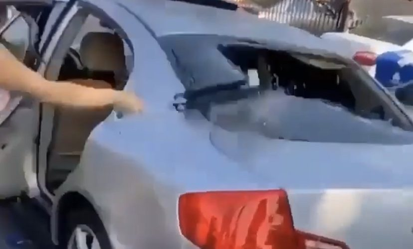 Smashing boyfriend's window gone wrong