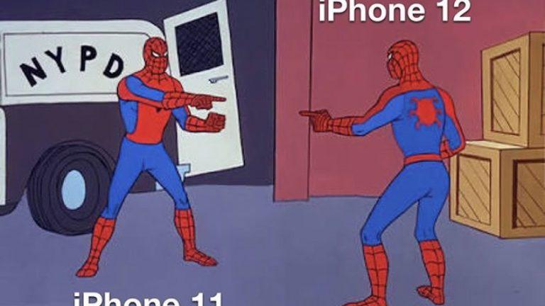 iPhone 11 vs iPhone 12 spiderman meme