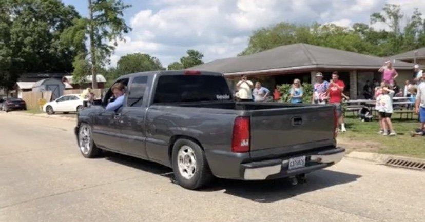 Truck gender reveal gone wrong