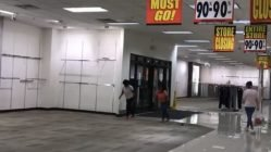 Racing in empty mall