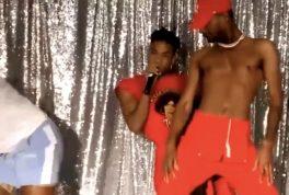 Shamar backup dancer falls