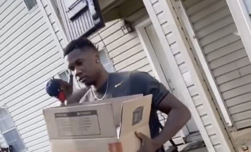 Man accidentally breaks tv while moving