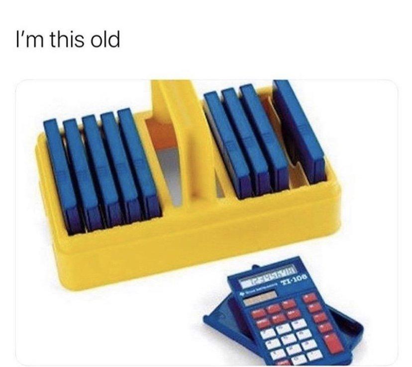 I'm this old calculator meme