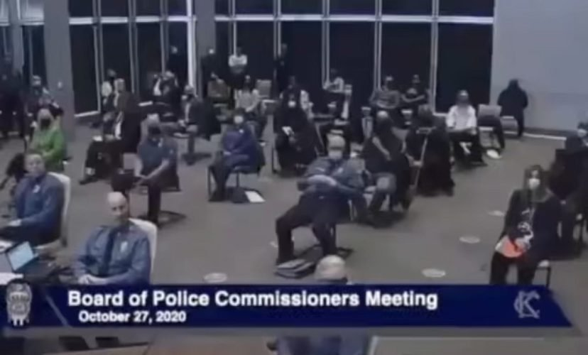 Young woman goes off on KC Police Board of Commissioners