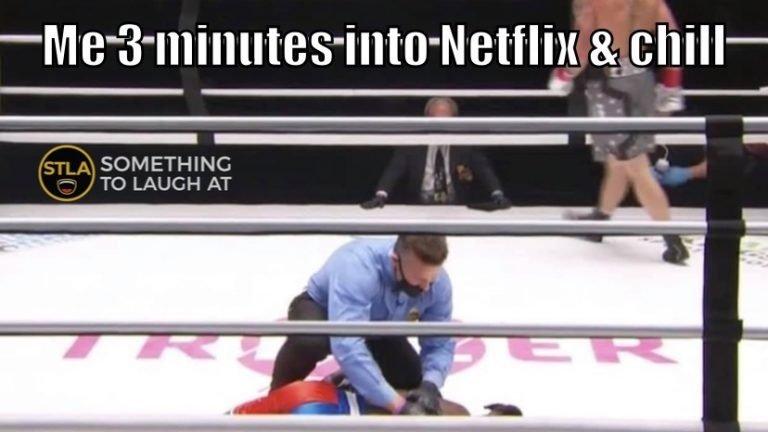 3 minutes into Netflix and Chill Nate Robinson knock out meme