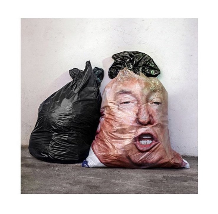 Donald Trump trash bag