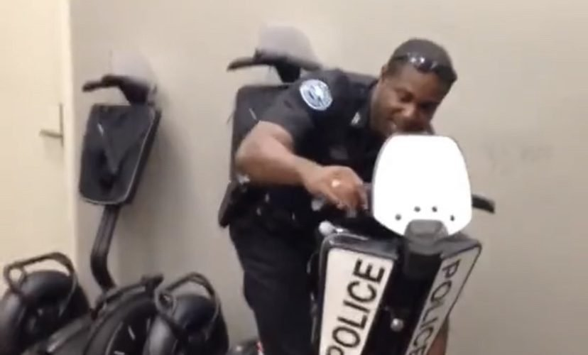 Police riding segway