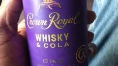 Crown Royal whiskey and cola in can