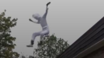 Landing on a ball fail