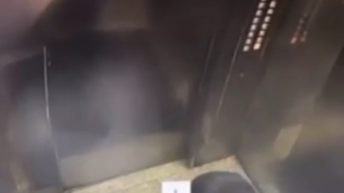 peeing in elevator