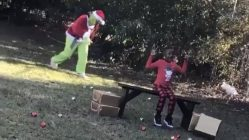 Grinch takes a mean right hook