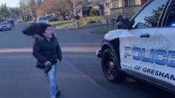 High schooler confronts school's security officer