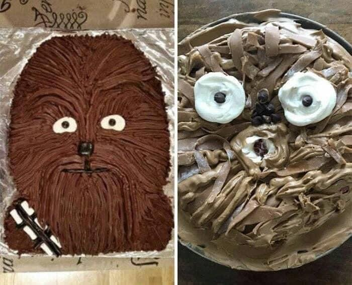 Chewbacca cake fail