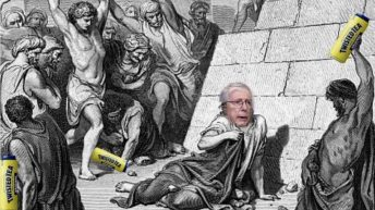 Mitch McConnell stoned with Twisted Tea meme