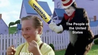 The people of US vs Mitch McConnell Cat in the hat meme
