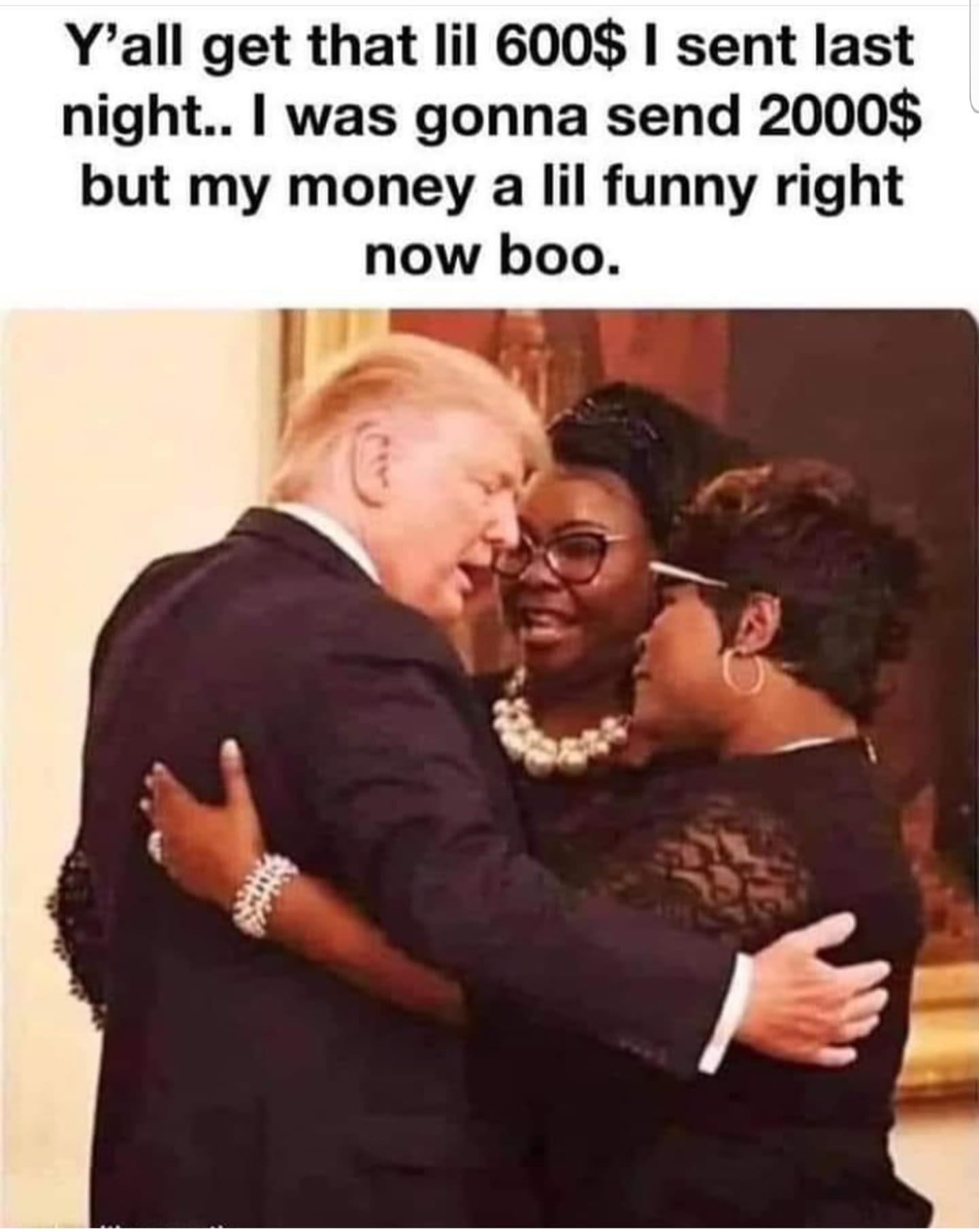 Donald Trump stimulus meme