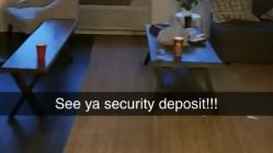 Throwing the security deposit down the drain